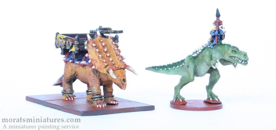 Carnosaur and Stegadon